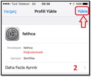 iOS Meb Sertifika 1